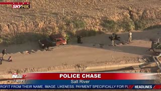 Dusty Police Pursuit Goes Off Road In Arizona