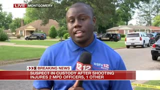 Suspect in custody after Montgomery, Ala. officers shot