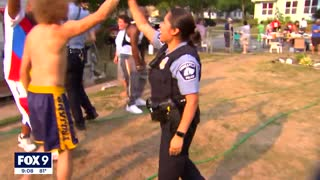 Divide over policing in Minneapolis on display for National Night Out   FOX 9