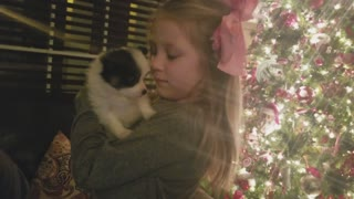 Little girl gets new puppy surprise for Christmas