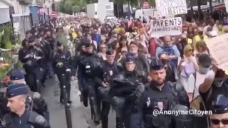 French protest against freedom pass, lockdown and restrictions 1st August 2021