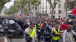 Paris: Police March with Lockdown, Vaccine Passport Protesters Aug. 7, 2021