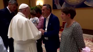 Pope meets Christians who fled Afghanistan