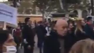 Police Join The Freedom Protest Valencia Spain, Nov 28, 2020