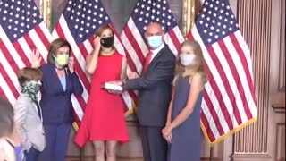 Pelosi Caught Breaking Her Own Mask Mandate for a Photo-shoot!