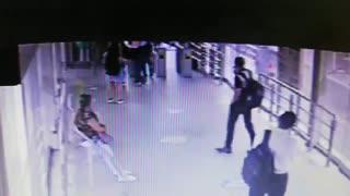 Video: Un bus de servicio público se estrelló contra una estación de Metrolínea