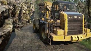 Caterpillar 770g Driving Offroad SnowRunner DLC 3