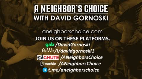 Michael Rectenwald Joins - A Neighbor's Choice LIVE 9-3-21
