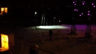 Popular Christmas light display with music in Warwick RI