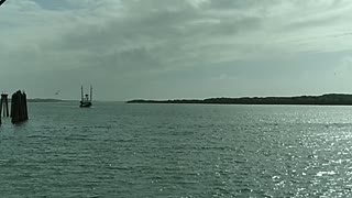 Boat coming into port