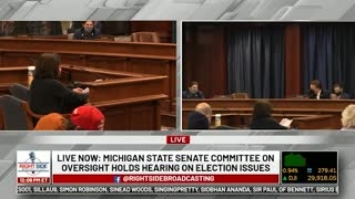 Witness #11 testifies at Michigan House Oversight Committee hearing on 2020 Election. Dec. 2, 2020.