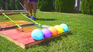Water Balloons in Slow Motion!_ Incredible 4K Video!