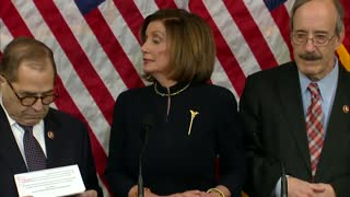 Speaker Pelosi Holds A Press Conference To Announce Impeachment