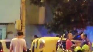 Accidente Taxi y particular Villabel