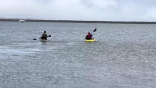 Kayaks at Half Moon Bay
