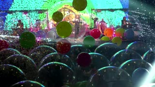 The Flaming Lips stage 'space bubble' concert