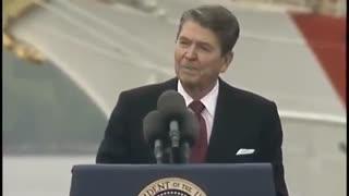 Ronald Reagan at 77 vs. Joe Biden at 78 at Coast Guard Commencement — YIKES