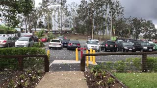 Hail Pummels Australian Carpark