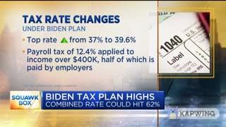 Top Tax Rate Under Biden Plan Will Surpass 62% for Some