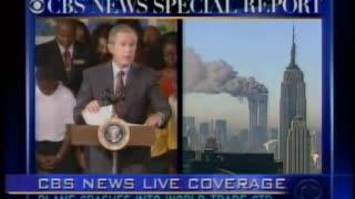 President Bush speaks from school after attacks