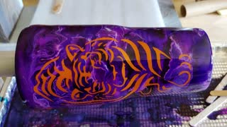 Purple with Tiger Tumbler