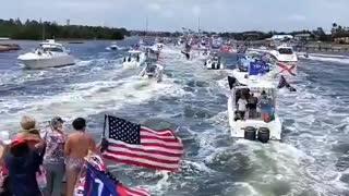 Trump boat parade in Jupiter Florida