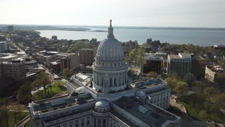 Drone Footage of Wisconsin Capitol Building