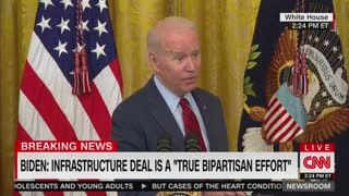 Biden Won't Sign Infrastructure Deal Without Reconciliation Bill