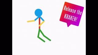 Stick figure release the Kraken