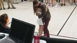 Marine Surprises Sister at School Dance