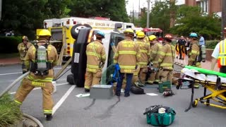 Rescue from overturned vehicle