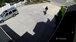 Bike Thief Receives Instant Karma