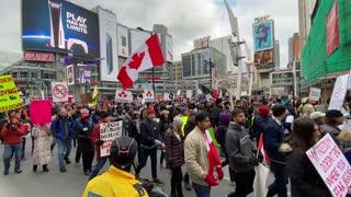 anti-lockdown protest toronto