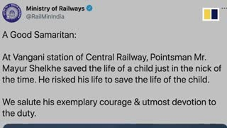 Heroic man saves young boy from oncoming train in Response