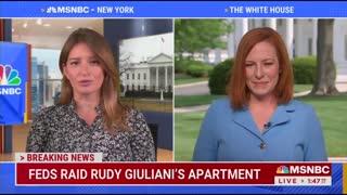 Psaki: Giuliani Raid Was Independent Action Of White House