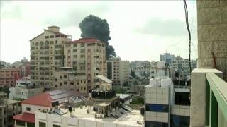 Israeli bombs hit residential building in Gaza City