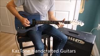 KazTone Handcrafted Guitars Moody Blue demo.