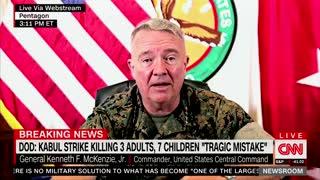 General Admits Kabul Drone Strike Killing 10 Civilians Was 'a Mistake'