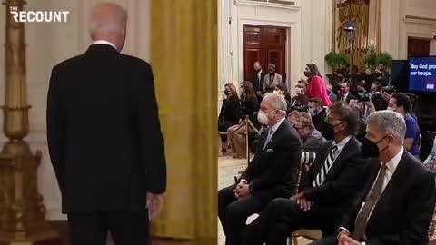 One Dude Claps for Atrocious Biden Speech