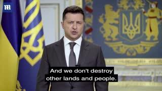 Russian Ukraine tension zelensky tells Putin Ukraine doesn't want war but is ready for it