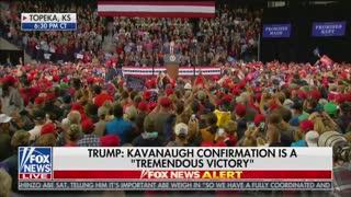 "President Donald Trump speaks about ""Democrat mob"""