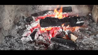 Relax with Fire Burning Video No Loop