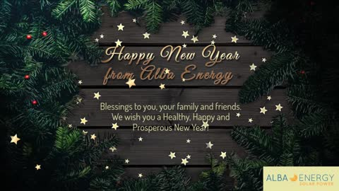 Happy New Year from Alba Energy