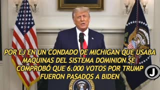 Spanish: Trump talking about election fraud