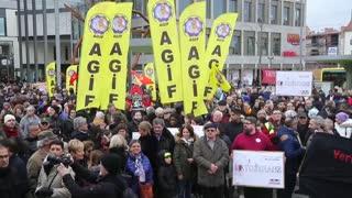 Protesta contra la ultraderecha en Hanau tras atentado xenófobo