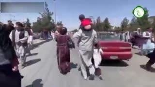 TERRIFYING Scene as Taliban Surround Kabul International Airport