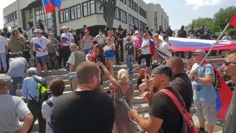 chcemeslobodu.sk - protest pred Národnou Radou 24.07.2021 - část 2
