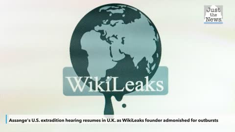 Assange's U.S. extradition hearing resumes in U.K. as WikiLeaks founder admonished for outbursts