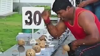 India Coconut Breaking Competition