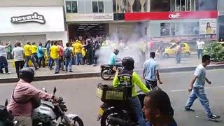 disturbios en el centro de Bucaramanga